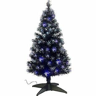 4ft fibre optic christmas tree black