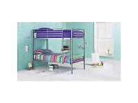 Samuel Single Bunk Bed Frame - Silver