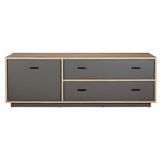 Darcy Large TV Unit - Oak and Charcoal
