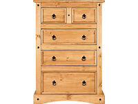 Puerto Rico 3+2 Drawer Chest - Pine