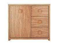 Eden 1 Door 3 Drawer Sideboard - Walnut Effect