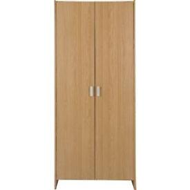New Capella 2 Door Wardrobe - Oak Effect