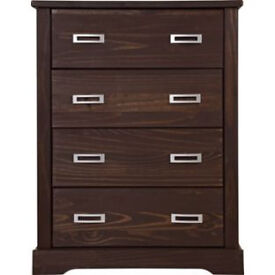 Mendoza 4 Drawer Chest - Walnut