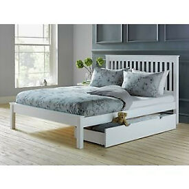 Aspley Double Bed Frame - White