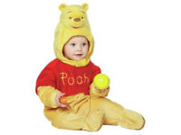 Disney Winnie the Pooh with moulded head outfit onesie romper 12-18 mth boy, girl