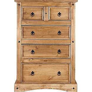 Puerto Rico 3+2 Drawer Chest - Dark