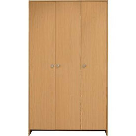 Seville 3 Door Wardrobe - Beech Effect