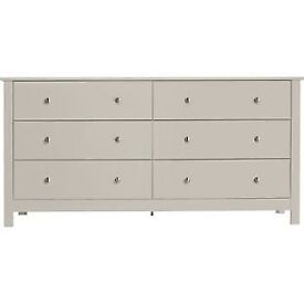 Osaka 3+3 Drawer Chest - Putty