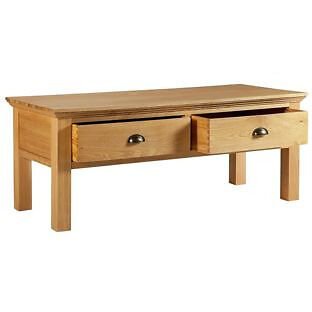 """Westminster Coffee TableSolid Oakin Leeds, West YorkshireGumtree - It is actually completely new in new package. Simply want to sell it. Everything is perfect that is not broken. Please go and view it inside my place. """"Coffee table with 2 drawers in soilid oak. Part of the Westminister collection. Size H47, W120,..."""