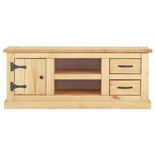 San Diego 2 Drawer TV Unit - Antique Solid Pine