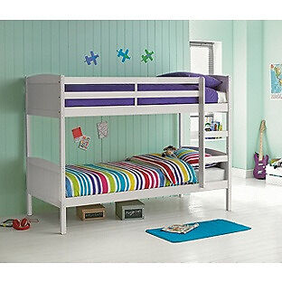 """Detachable Single Bunk Bed FrameWhitein Sheffield, South YorkshireGumtree - Brand new in box. Please contact me for more info. """"For safety reasons the maximum mattress depth to be used on the top bunk is 15cm. Part of the Detachable collection. Solid wood frame finish. Ladder can be positioned either side of the bed. Can be..."""