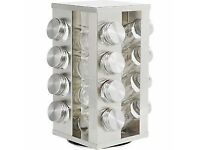HOME 16 Jar Stainless Steel Revolving Spice Rack Brand New Boxed