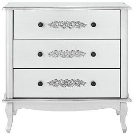 Sophia 3 Drawer Chest - White