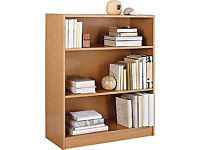 Maine Small Extra Deep Bookcase - Oak Effect