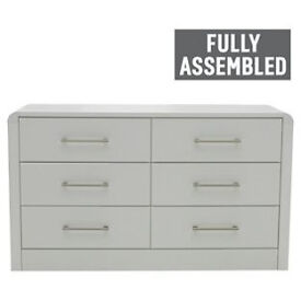 Heart of House Elford 6 Drawer Chest - White.