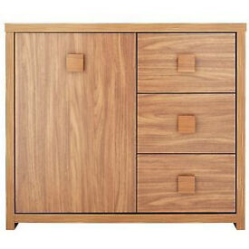 Eden 1 Door 3 Drawer Sideboard - Walnut Effect