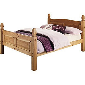 Puerto Rico Double Bed Frame - Light Pine