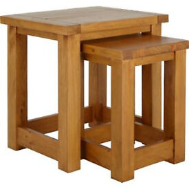 Harvard Nest of 2 Tables - Solid Pine