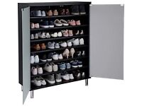 Hygena Milan Storage Cabinet with Frosted Glass Doors -Black brand new boxed