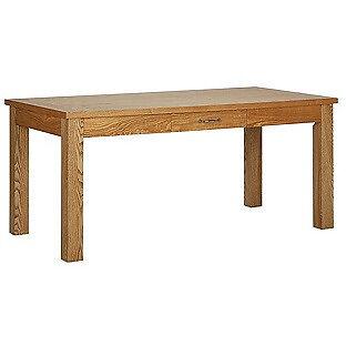 Heart of House Farnham Oak Veneer Dining Table with Drawer.