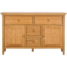 Schreiber Pentridge 4 Drawer 2 Door Sideboard - Oak