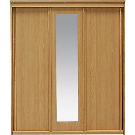 New Hallingford 3 Door Sliding Wardrobe - Oak Effect