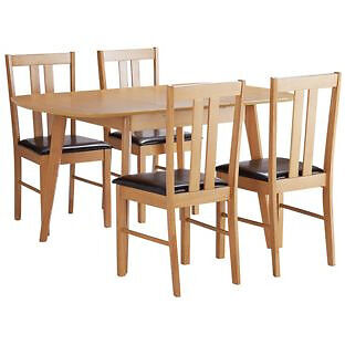 HOME Witley Extendable Table and 4 Chairs - Oak Effect