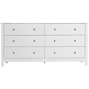 Osaka 3+3 Drawer Chest - White