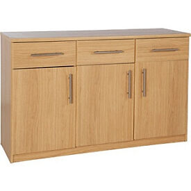 Anderson 3 Door and 3 Drawer Sideboard - Oak Effect