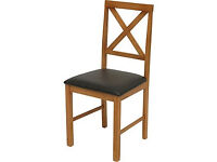 Hudson Pair of Solid Wood Dining Chairs