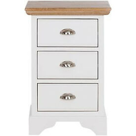 Schreiber Melcombe Bedside Chest - White Oak