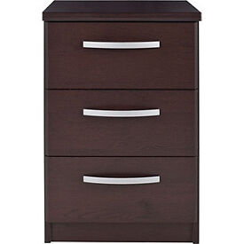New Hallingford 3 Drw Bedside Chest-Wenge Effect.