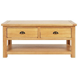 Kent Coffee Table - Solid Oak & Oak Veneer