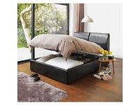 Hygena Vince Double Ottoman Bed Frame - Black.