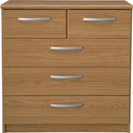 New Hallingford 3+2 Drawer Chest - Oak Effect