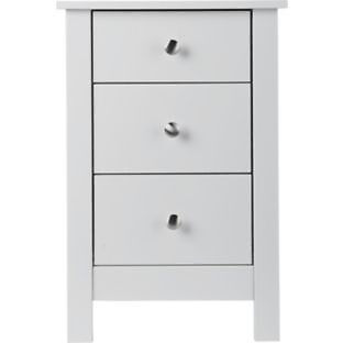 Osaka 3 Drawer Bedside Chest - White