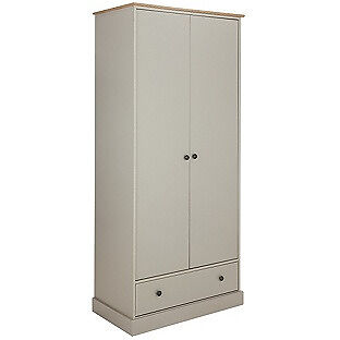 """Collection Kensington 2 Dr 1Drw Wardrobe PuttyOak Effectin Coventry, West MidlandsGumtree - It is new in box. Perfect condition. Please call or message me if you want to get more info on it. """"Size H199, W86, D50cm. 54kg. 1 hanging rail. 1 shelf. 1 drawer with metal runners. Metal handles. Self assembly 2 people recommended. FSC certified..."""