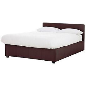 Hygena Attenborough Small Double Ottoman Bed - Chocolate.