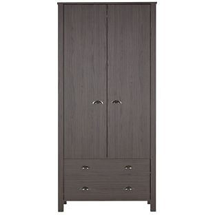 Marlow 2 Door 2 Drw Wardrobe - Dark Oak Effect