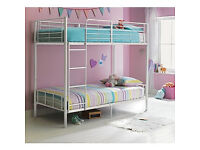 Maddison Single Bunk Bed Frame - White