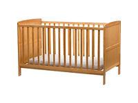 BabyStart Cot Bed - Pine