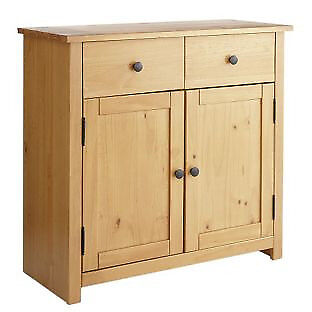 HOME Porto Solid Wood 2 Door 2 Drawer Sideboard- Oak Effect