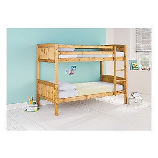 Detachable Single Bunk Bed Frame - Pine