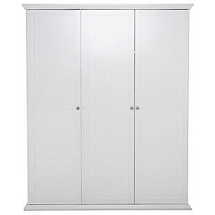 Canterbury 3 Door Wardrobe - White