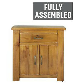 Fully assembled Arizona 2 Door 1 Drawer Sideboard – Solid Pine.