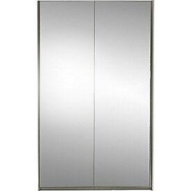 Hygena Bergen Large Sliding Mirror Wardrobe - White