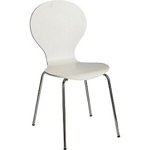 White GRESHAM CHAIR with Stainless steel legs Lane Cove West Lane Cove Area Preview