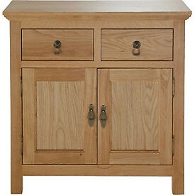 Knightsbridge 2 Door 2 Drawer Mini Sideboard - Oak