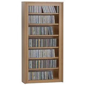 7 Tier CD and DVD Media Unit - Beech