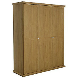 Canterbury 3 Door Wardrobe - Oak effect